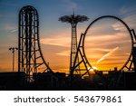 coney island sunset | Shutterstock . vector #543679861