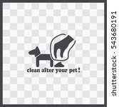 clean after pet vector icon....