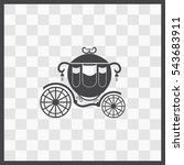 Carriage Vector Icon. Isolated...