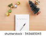 conceptual notebook with coffee ... | Shutterstock . vector #543685045