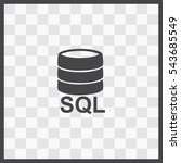 sql vector icon. isolated... | Shutterstock .eps vector #543685549