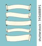 set of banners. vintage scrolls ... | Shutterstock .eps vector #543688891