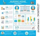 nursing home infographics... | Shutterstock . vector #543690127