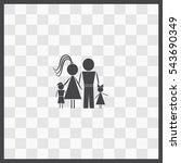 family vector icon. isolated... | Shutterstock .eps vector #543690349
