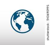globe earth vector icon | Shutterstock .eps vector #543690991