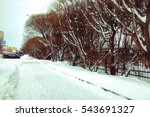 winter rustic road sunlight | Shutterstock . vector #543691327