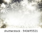 fireworks at new year and copy... | Shutterstock . vector #543695521