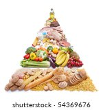 food pyramid represents way of... | Shutterstock . vector #54369676