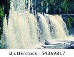 Amazing waterfall in Keila Joa, Estonia - stock photo
