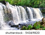 Waterfall in Keila Joa, Estonia - stock photo