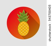 pineapple in a flat style with... | Shutterstock .eps vector #543700405