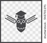 owl with books vector icon.... | Shutterstock .eps vector #543701191