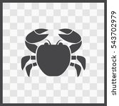 crab vector icon. isolated...