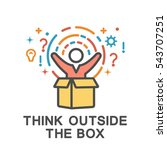 think outside the box icons.... | Shutterstock .eps vector #543707251