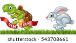 cartoon a turtle win the race... | Shutterstock .eps vector #543708661