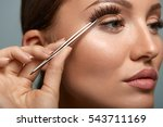 eyelashes. beautiful woman...   Shutterstock . vector #543711169