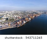 aerial shot of large bangkok... | Shutterstock . vector #543711265