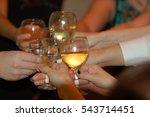 group of friends hit clink... | Shutterstock . vector #543714451