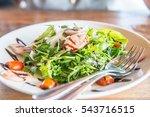 italian sausage and rocket... | Shutterstock . vector #543716515