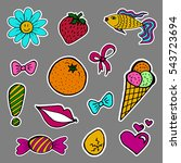 a set of fashion labels  badges.... | Shutterstock .eps vector #543723694