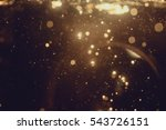 gold abstract bokeh background | Shutterstock . vector #543726151