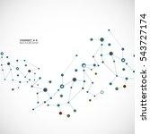 vector illustration molecules ... | Shutterstock .eps vector #543727174