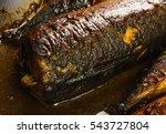 mackerel in marinade  baked in... | Shutterstock . vector #543727804