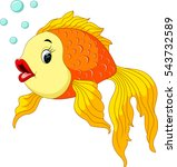 gold fish with bubbles | Shutterstock .eps vector #543732589