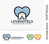 love hotels  house  home ... | Shutterstock .eps vector #543740161