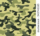 seamless vector camouflage... | Shutterstock .eps vector #543743185