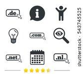 top level internet domain icons.... | Shutterstock .eps vector #543745525