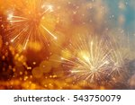 fireworks at new year and copy... | Shutterstock . vector #543750079