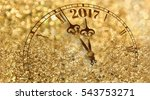 new year clock counting down... | Shutterstock . vector #543753271