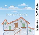 cartoon styled house  vector...   Shutterstock .eps vector #543758644