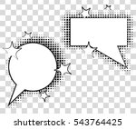 comic speech bubbles with... | Shutterstock .eps vector #543764425