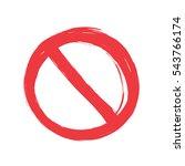 grunge no sign  vector... | Shutterstock .eps vector #543766174