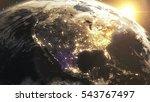 earth sunshine north america... | Shutterstock . vector #543767497
