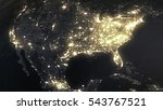 Earth Night North America From...