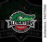 alligator mascot for a football ... | Shutterstock .eps vector #543770581