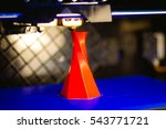 3d printer printing isolated... | Shutterstock . vector #543771721