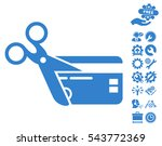 cut credit card pictograph with ...