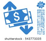 banknotes spending icon with... | Shutterstock .eps vector #543773335