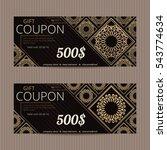 gift voucher in luxury style.... | Shutterstock .eps vector #543774634