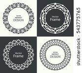 Set Of Monogram Line Vintage...