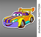 cartoon sport car sticker for... | Shutterstock .eps vector #543779284