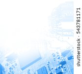 high technology concept | Shutterstock . vector #543781171