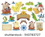 set vector cartoon illustration ... | Shutterstock .eps vector #543783727