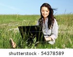 girl with laptop | Shutterstock . vector #54378589