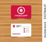 business card template with...