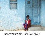 Small photo of AMRAVATI, MAHARASHTRA, INDIA - 19 AUGUST 2016 : unidentified happy Indian rural children at their village, Amravati , Maharashtra, India